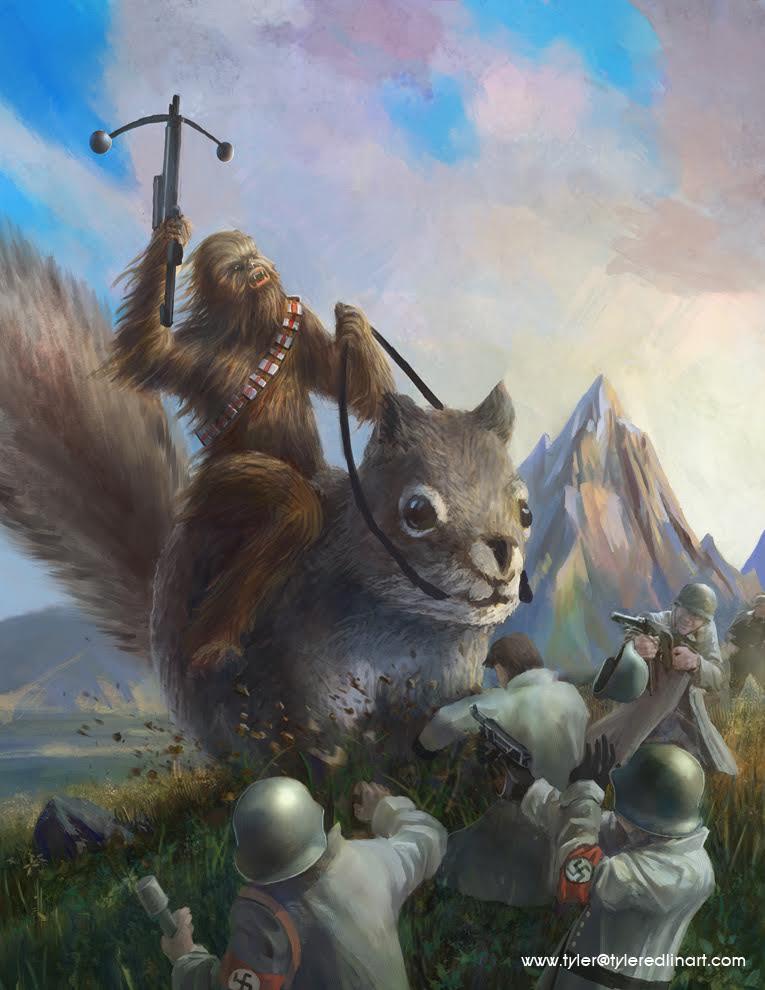 chewbacca_riding_a_chipmunk_fighting_nazis